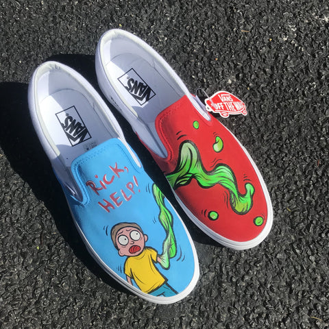 "Vans Slip On ""Rick & Morty"" - CustomizerDepot"