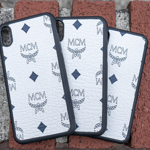 White MCM Iphone Case - CustomizerDepot