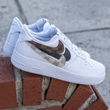 "Nike Air Force 1 ""What the Damier's"" - CustomizerDepot"