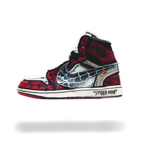 SpiderMan Off White Air Jordan 1 - CustomizerDepot