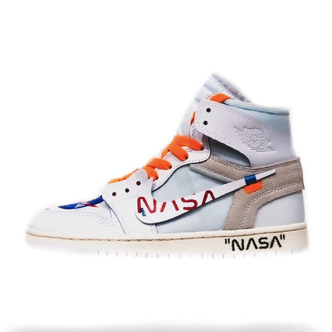 Nasa Off White Air Jordan 1 - CustomizerDepot