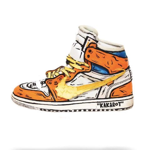 Goku Off White Air Jordan 1 - CustomizerDepot