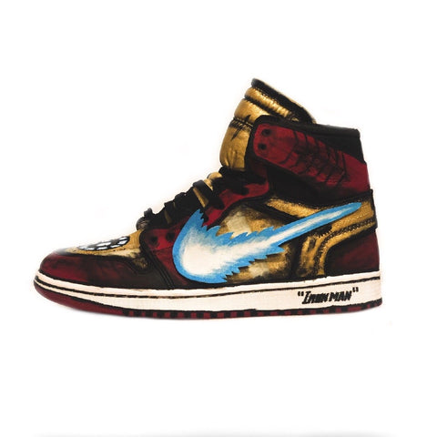 Iron Man Off White Jordan 1's - CustomizerDepot