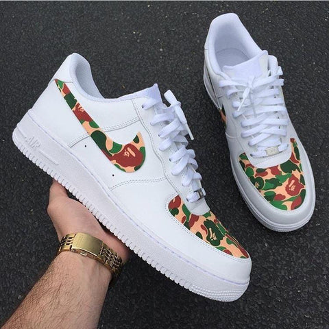 Bape Air Force 1's - CustomizerDepot