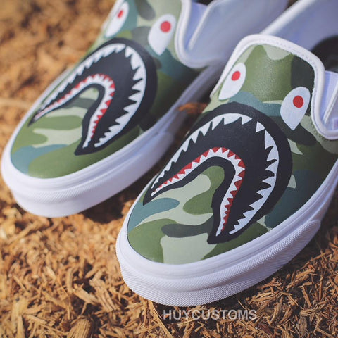 "Vans Slip On's ""Shark Camo"""
