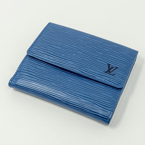 Louis Vuitton Light Blue Epi Tri-fold Wallet - CustomizerDepot