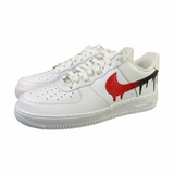 Nike Air Force 1 Black/Red Drip - CustomizerDepot