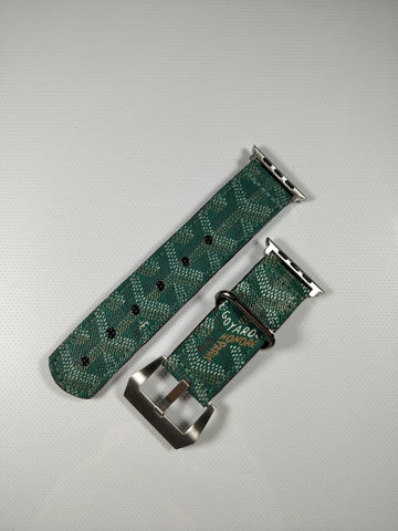 Green Goyard Apple Watch Band