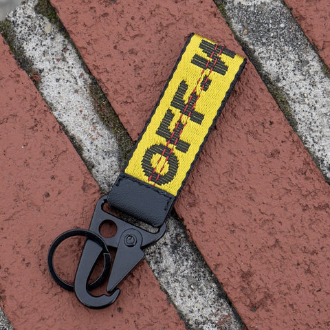 Off White KeyChain (Yellow) - CustomizerDepot