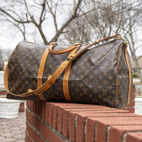 Louis Vuitton Keepall Bandouliere 55 Duffle Bag (FC892) - CustomizerDepot