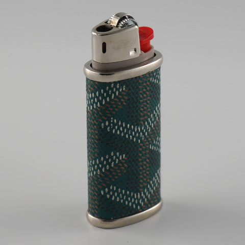 Green Goyard Mini Lighter Sleeve