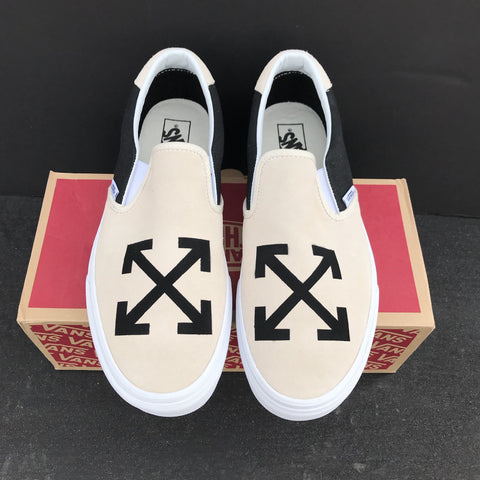 Vans Off White Slip On - CustomizerDepot