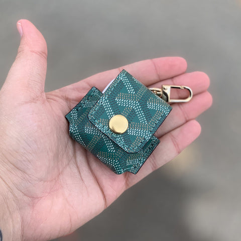 Green Goyard Apple Airpod Case