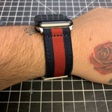 Navy & Red Gucci Web Apple Watch Band