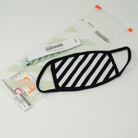 Off White Diag Face Mask (SS19) - CustomizerDepot