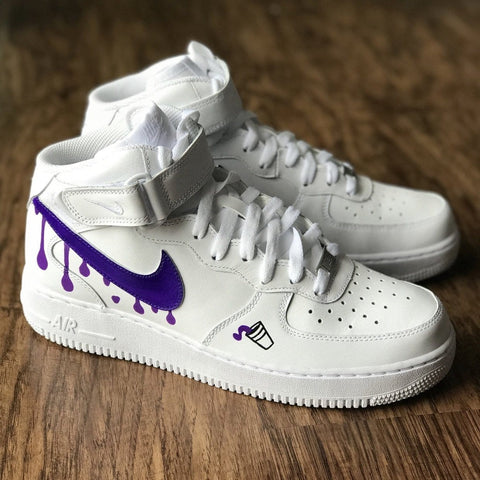 "Nike Air Force 1 ""Purple Drank"" - CustomizerDepot"