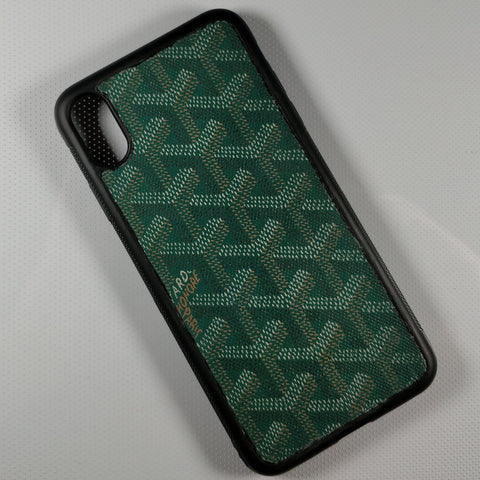 Green Goyard Iphone Case