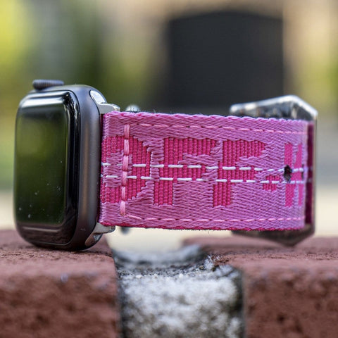 Neon Pink Off White Apple Watch Band - CustomizerDepot
