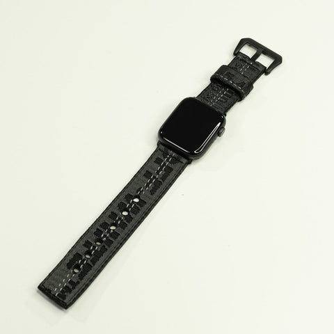 Black Off White Apple Watch Band (Material Catcher) - CustomizerDepot