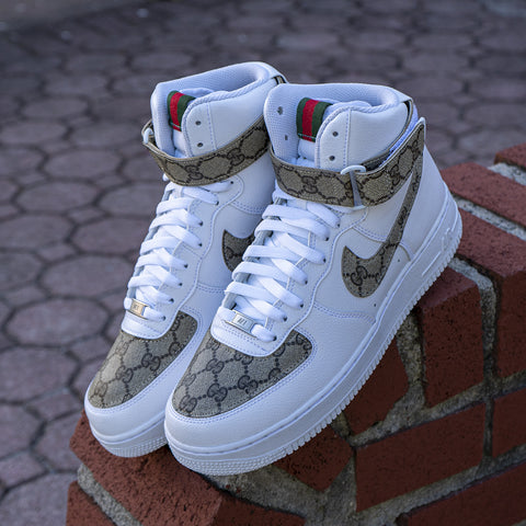 "Nike Air Force 1 High ""Gucci"" - CustomizerDepot"