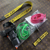 Yellow Off White Camera Strap