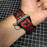 Red Off White Apple Watch Band