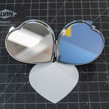 Metal Heart Shaped cosmetic Mirror - CustomizerDepot