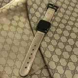 Gucci Gold Imprime Apple Watch Band