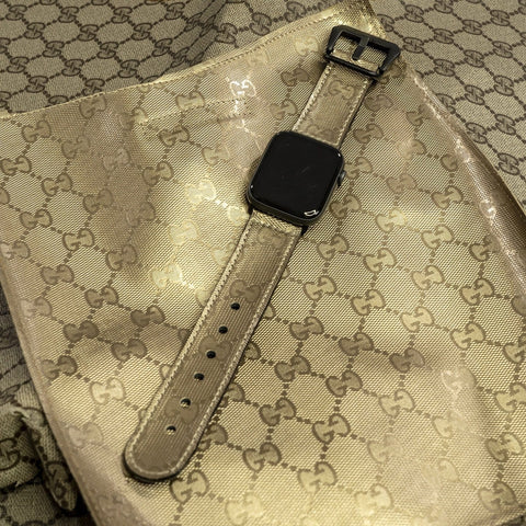 Gucci Gold Imprime Apple Watch Band - CustomizerDepot
