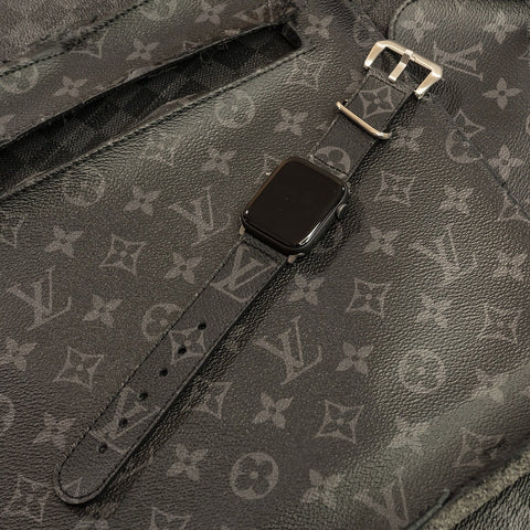Louis Vuitton Eclipse Monogram Apple Watch Band - CustomizerDepot