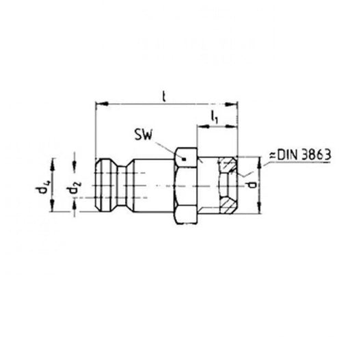 "Nipple G1/4"" 13 Series European"