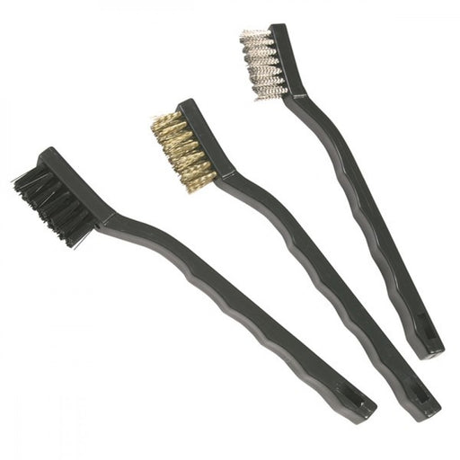 NYLON/BRASS/STEEL BRUSH SET  3PCE 301003