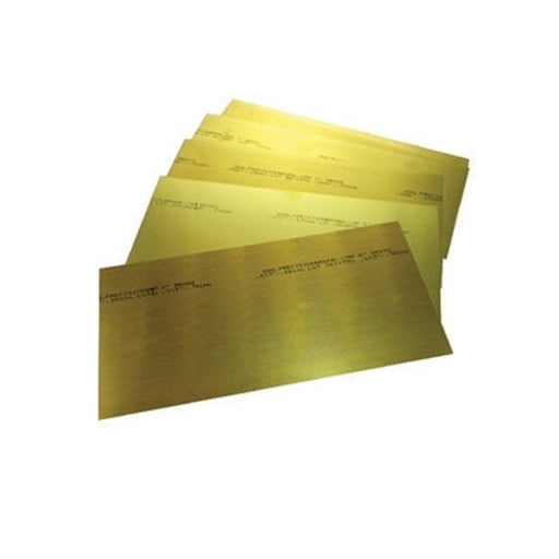 Brass Shim Assortment Packet Of 12 Sheets