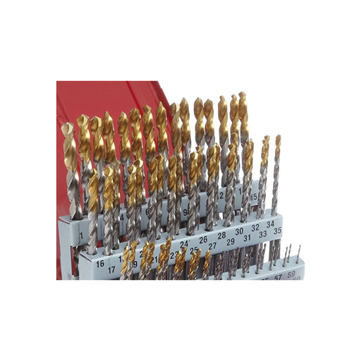 Drill Set 1-10mm x 0.1mm Steps 91pcs Split Point Tin Coated