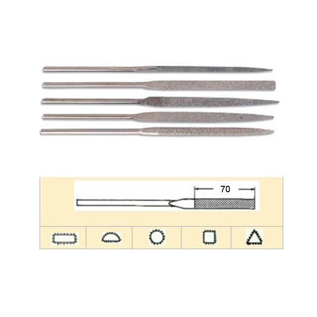 5 Pce 180mm Diamond Needle File Set