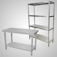 Stainless Steel Shelves and Benches