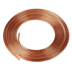 "1/2""Inch x 15m Copper Pipe Roll for HVAC Refrigeration, Plumbing - R410A"