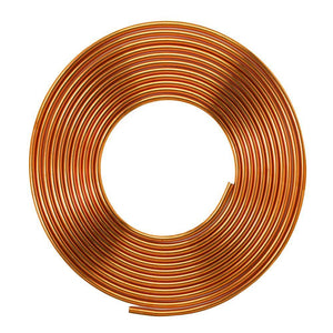 "3/8""Inch x 15m Copper Pipe Roll for HVAC Refrigeration, Plumbing - R410A"