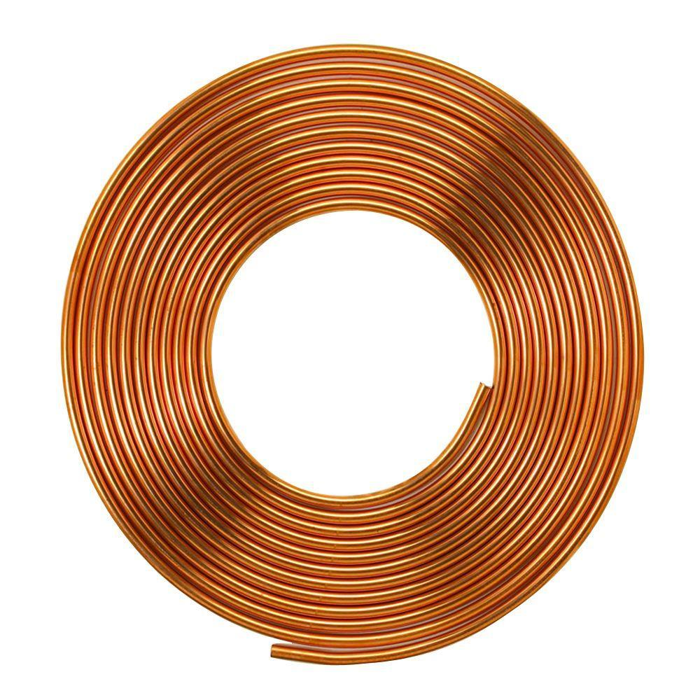 "3/8""Inch x 10m Copper Pipe Roll for HVAC Refrigeration, Plumbing - R410A"
