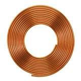 "3/8""Inch x 5m Copper Pipe Roll for HVAC Refrigeration, Plumbing - R410A"
