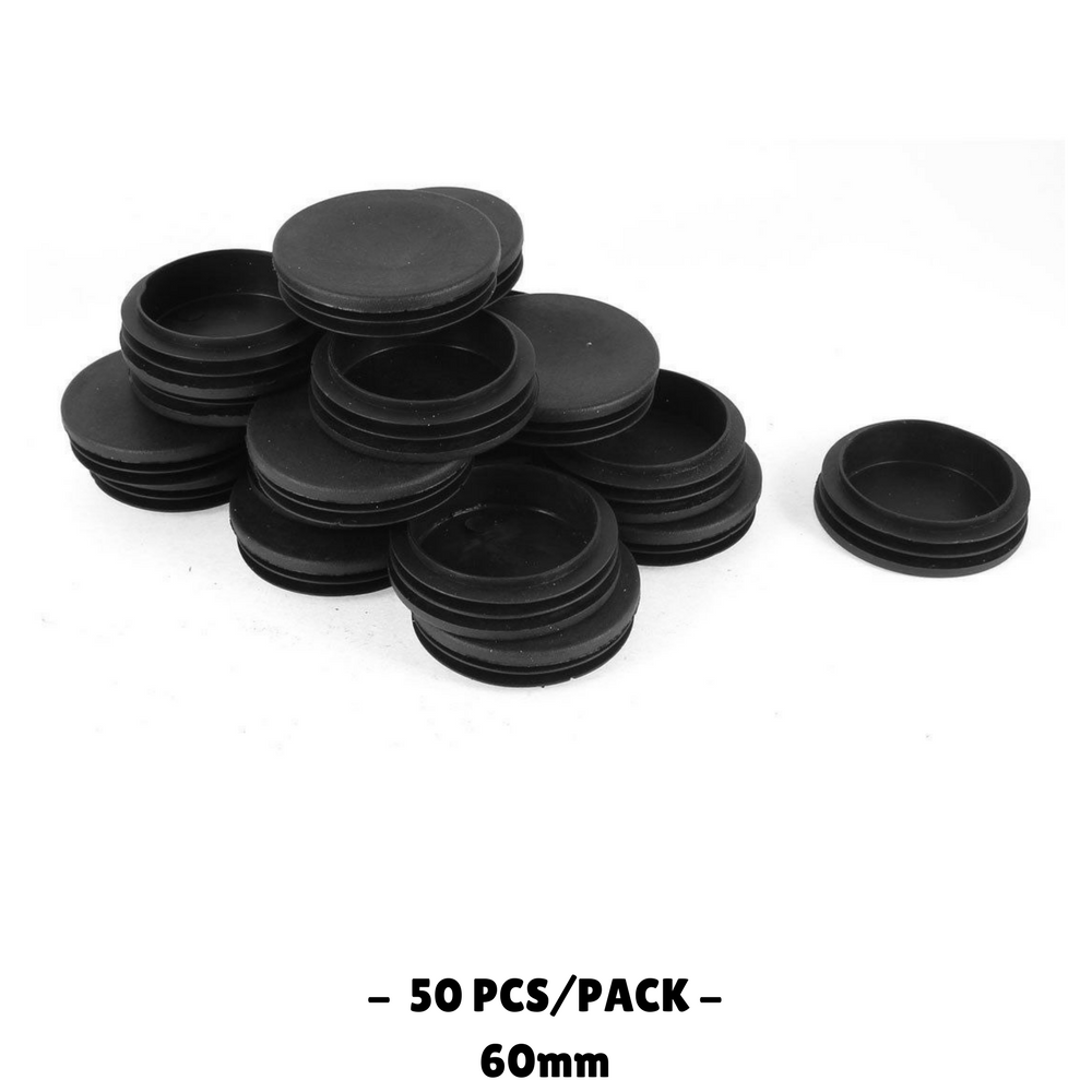 50pcs Plastic Blanking End Cap Round Tube Insert 60mm