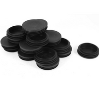 74mm Plastic End Caps for Round Tubing - 50pcs pack