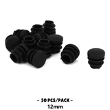 50pcs Plastic Blanking End Cap Round Tube Insert 12mm