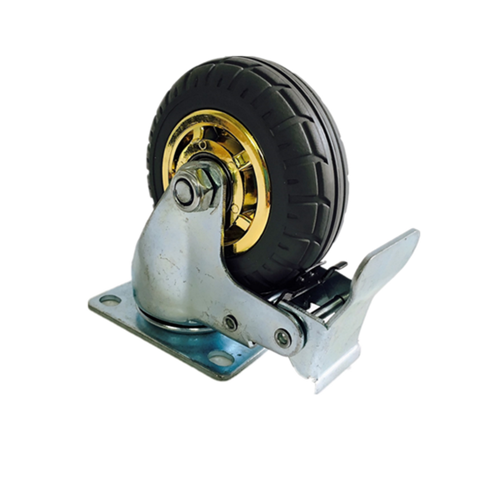 3'' 75 mm Rubber Swivel heavy duty Caster Wheels 90 kg load with Brake