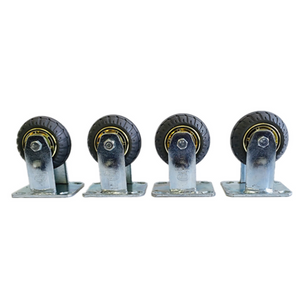 "4 PCS 4"" 100mm heavy duty fixed caster wheels 800 kg load"