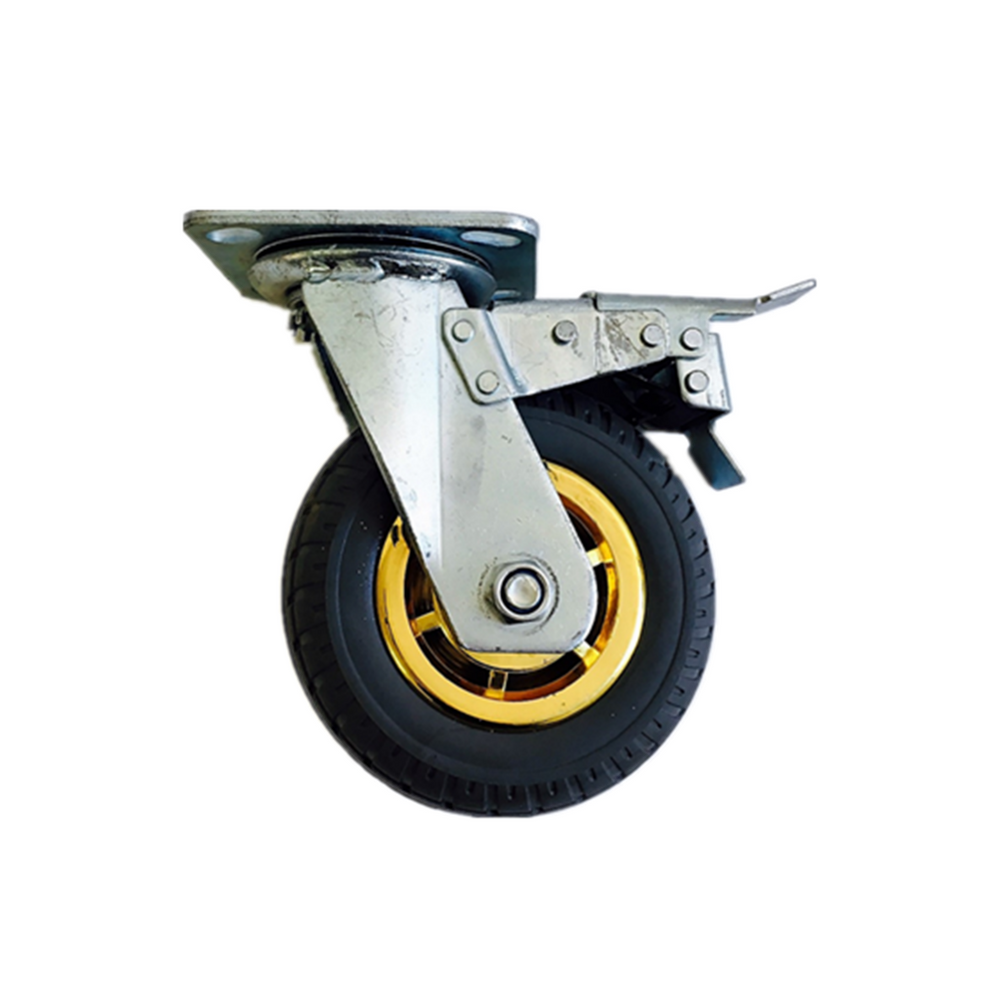 6 Quot 150 Mm Heavy Duty Caster Wheels 250 Kg Load With Brake