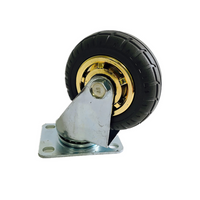 3'' 75 mm Rubber Swivel heavy duty Caster Wheels 90 kg load