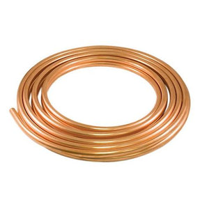 "3/4""Inch x 15m Copper Pipe Roll for HVAC Refrigeration, Plumbing - R410A"