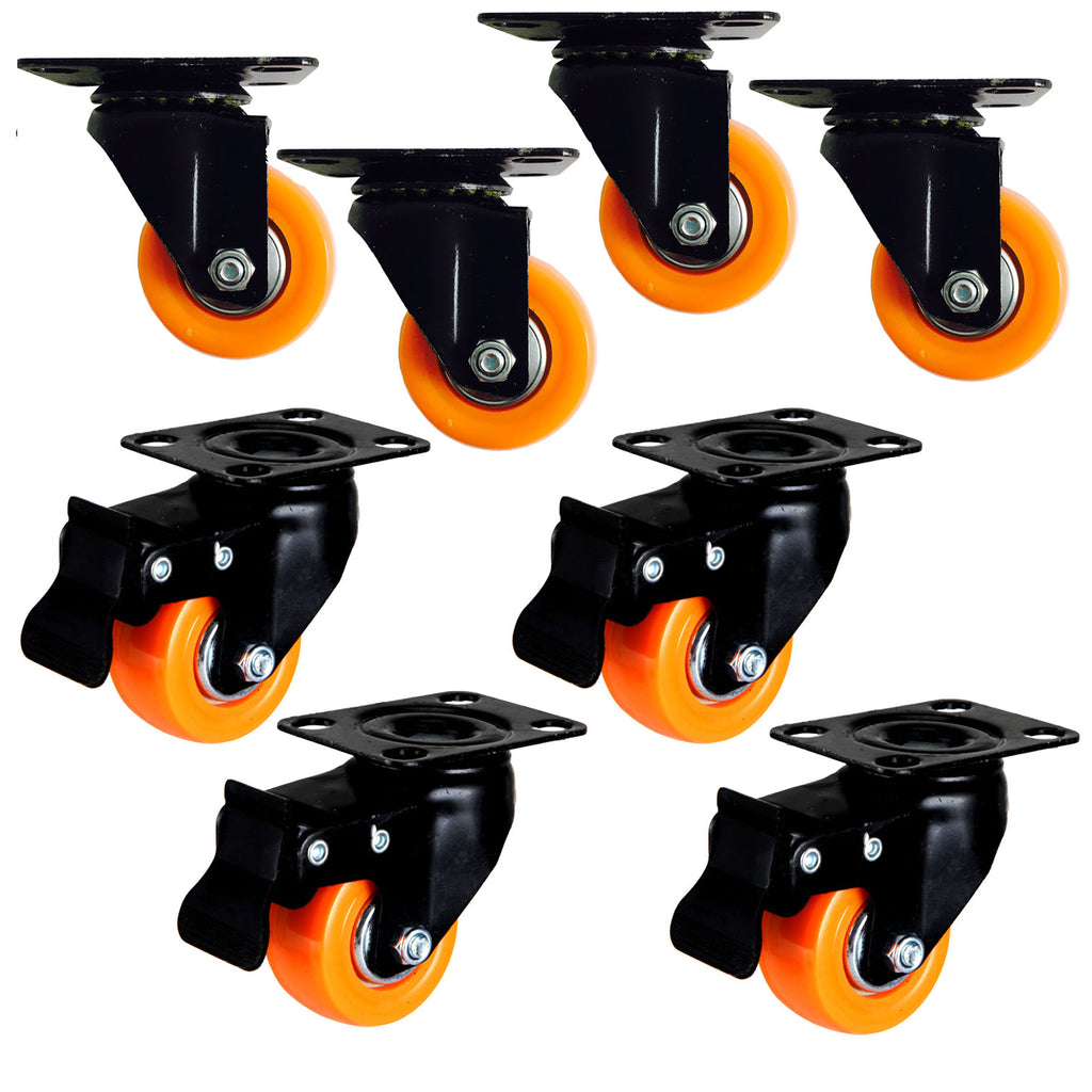 Caster wheels for trolley