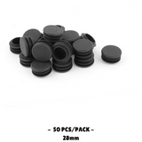 50pcs Plastic Blanking End Cap Round Tube Insert 28mm